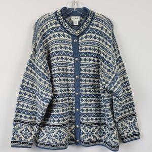 L.L.Bean Nordic Fair Isle Vintage Sweater Size XL